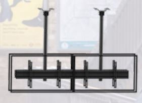 Support de plafond EDBAK pour écrans doubles 50p-57p dos à dos MBV3155BB-L