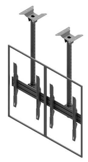 Support de plafond EDBAK pour écrans doubles 50p-57p MBV2155-P