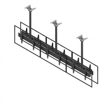 Support de plafond EDBAK pour écrans doubles 42p-47p dos à dos MBV3147BB-L