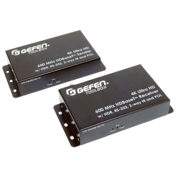 Extendeur Gefen HDMI2.0 HDR HDBaseT 4K IR sur Cat5 GTB-UHD600-HBT