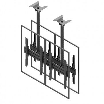 Support de plafond EDBAK pour écrans doubles 42p-47p dos à dos MBV2147BB-P