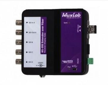 Extendeur sur fibre optique 6G-SDI avec retour 500734-SM10 Muxlab