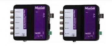 Extendeur sur fibre optique 6G-SDI avec retour 500734-SM80 Muxlab