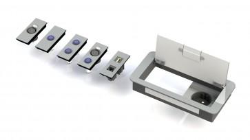 Boitier de table Design 1 Alim + 3 demi modules E1-SOCKET-X-200-D Element One