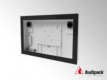 Caisson indoor IP30 pour écran 40p avec verre de protection AUD-FSMT-N40S Audipack