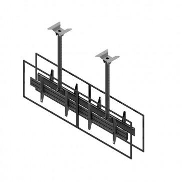 Support de plafond EDBAK pour écrans doubles 42p-47p dos à dos MBV2147BB-L