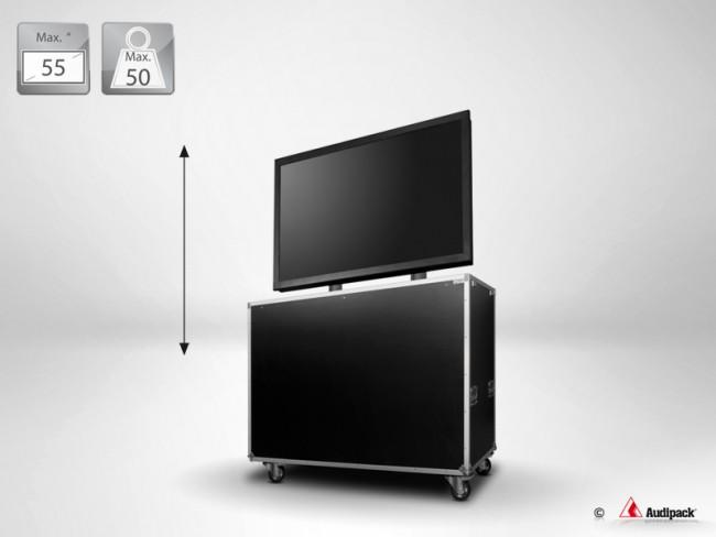 9b608ef09c609c Support flight case motorisé pour écran plat FLM-5255 Audipack ...