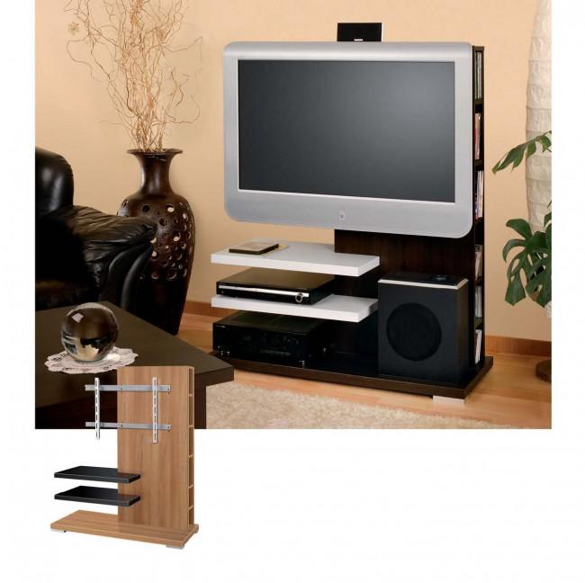 meuble tv hubertus neon wenge tag res argent audiovisuel solution. Black Bedroom Furniture Sets. Home Design Ideas