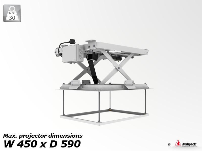 support de plafond motoris pour vid oprojecteur pcl 3050 1 audipack audiovisuel solution. Black Bedroom Furniture Sets. Home Design Ideas
