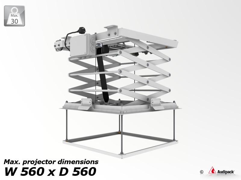 support de plafond motoris pour vid oprojecteur pcl 5050 4 audipack audiovisuel solution. Black Bedroom Furniture Sets. Home Design Ideas