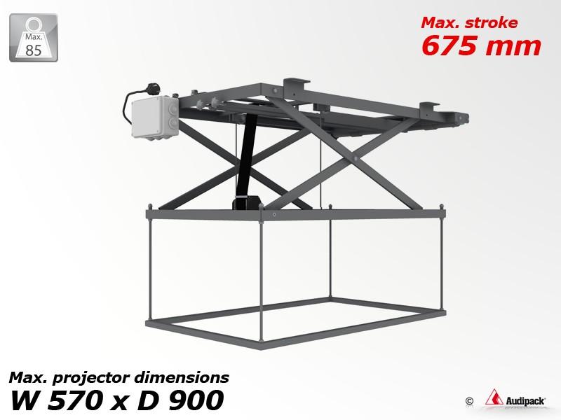 support de plafond motoris pour vid oprojecteur p1982 audipack audiovisuel solution. Black Bedroom Furniture Sets. Home Design Ideas
