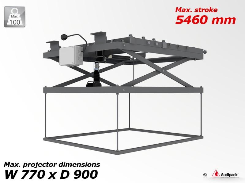 support de plafond motoris pour vid oprojecteur p3618 audipack audiovisuel solution. Black Bedroom Furniture Sets. Home Design Ideas