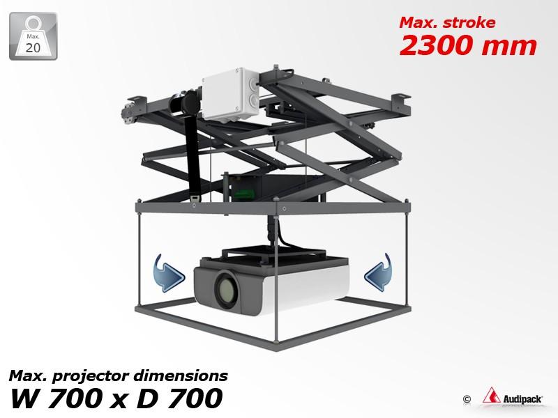 support motorise videoprojecteur plafond maison design. Black Bedroom Furniture Sets. Home Design Ideas
