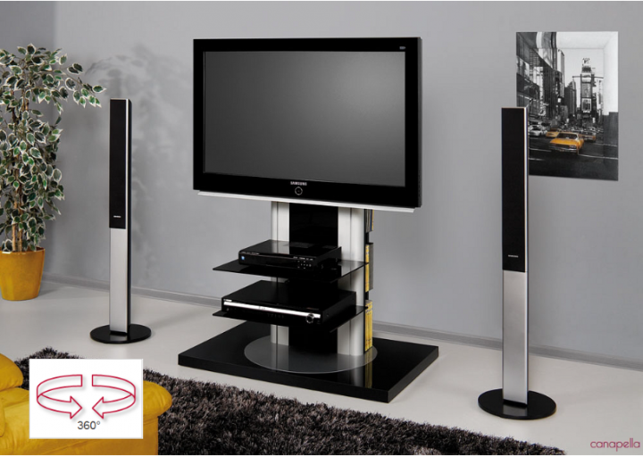 meuble tv hubertus roma audiovisuel solution. Black Bedroom Furniture Sets. Home Design Ideas