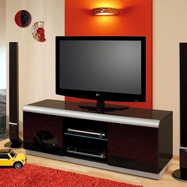 Meuble tv lcd plasma hubertus denver 2 noir audiovisuel solution - Meuble tv noir et rouge ...