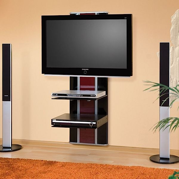 Meuble tv hubertus orion lux noir audiovisuel solution for Meuble tv deco