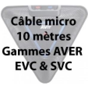 Câble microphone 10 mètres pour EVC & SVC Aver
