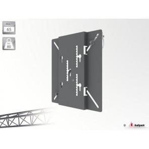 """Support poutre pour écran plat 392560 Audipack - 80Kg max - Pour écran 65"""" max - Dimension : W530xD30xH450 mm"""