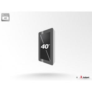 Caisson de protection extérieur pour écran LCD FSMO-40P Audipack