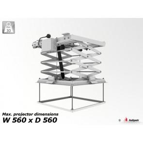 Support de plafond motorisé pour vidéoprojecteur PCL-5050-4 Audipack