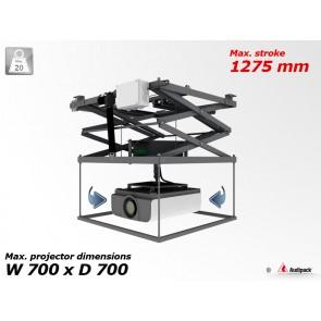 Support de plafond motorisé avec rotation pour vidéoprojecteur P3310 Audipack