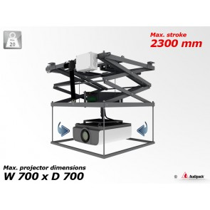 Support de plafond motorisé avec rotation pour vidéoprojecteur P5357 Audipack