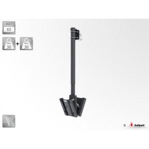 Support double écran plat sur tube pour poutre FTDC-1500TB Audipack