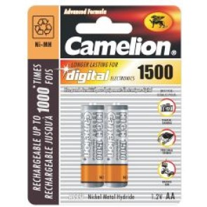 Pack 2 Accus Camelion Rechargeables NiMh R06/AA/1500mAh
