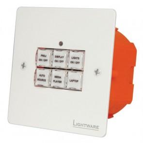 Panneau de contrôle TBP6-EU-W Lightware