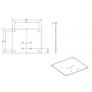 Base carrée pour colonne 640x 525cm EBS-MOT-ACC02 E-boxx