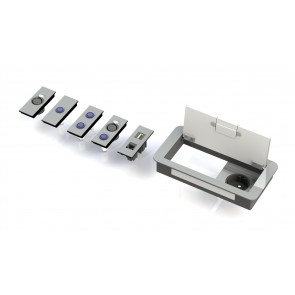 Boitier de table Design 1 Alim + 3 demi modules E1-SOCKET-X-200-D Element One