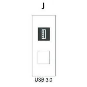 Demi module USB 3.0 pour boitier de table SOCKET E1-SOCKET-MOD-USB3 Element One