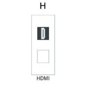 Demi module HDMI-A pour boitier de table SOCKET E1-SOCKET-MOD-HDMI Element One