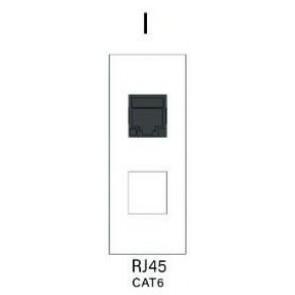 Demi module RJ45 pour boitier de table SOCKET E1-SOCKET-MOD-RJ45 Element One