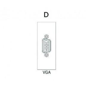 Demi module VGA pour boitier de table SOCKET E1-SOCKET-MOD-VGA Element One