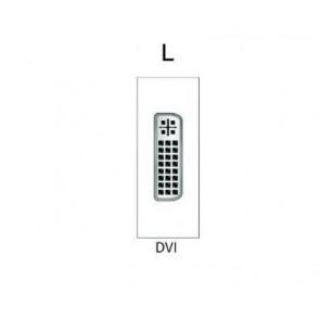 Demi module DVI-D pour boitier de table SOCKET E1-SOCKET-MOD-DVI Element One