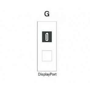 Demi module DisplayPort pour boitier de table SOCKET E1-SOCKET-MOD-DP Element One