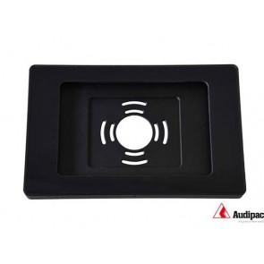 Caisson alu noir et vitre avec cadre noir pour tablette iPad AUD-IPADHOUSI9.7B Audipack