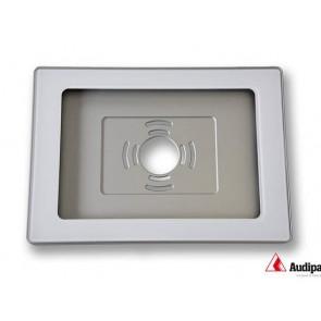 Caisson alu blanc et vitre avec cadre noir pour tablette iPad AUD-IPADHOUSI9.7W Audipack