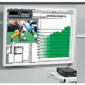 Tableau sur rail de projection 150x150cm gris KIN-5008411055 Kindermann