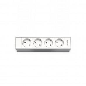 CablePort Modulaire pour Flex 45 - 4 prises d'alimentation, alu Kindermann 7449000204
