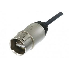 Cable USB  3m monté avec 2 fiches étanches NAUSB-W Neutrik NKUSB-3