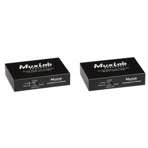 Kit Extendeur 3G-SDI sur IP 500756 Muxlab - 1080p - Max 16 transmetteurs et 200 récepteurs - Extension SDI, HD-SDI et 3G-SDI jusqu'à 200 m - Alimentation POE