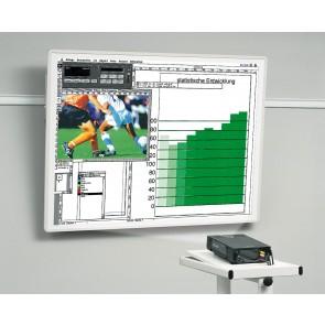 Tableau de projection inclinable 200x200 cadre blanc Kindermann 5008410379