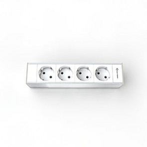 Support 4 modules pour Boîtier CablePort Flex Kindermann 7449000204