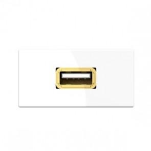 Demi module USB 7464000522 pour boîtier de connexion Kindermann