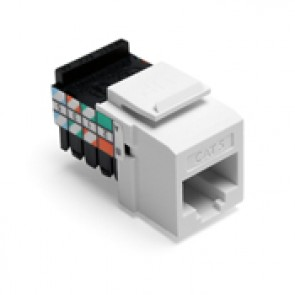 Connecteur 8555W Leviton CAT-5e blanc