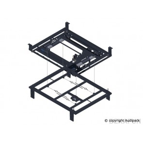 Support plafond Silencer pantographe motorisé P5118 Audipack