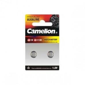 Pack 2 Piles Boutons Camelion Alcaline AG10/LR1130