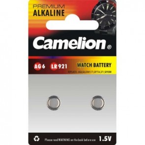 Pack 2 Piles Boutons Camelion Alcaline AG6/LR920
